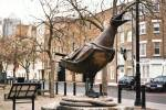 Herring Gull, bronze 1994, commissioned by the London Docklands Development Corporation